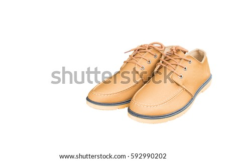 Male brown shoes on a white background. #592990202