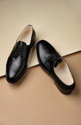 Male classic shoes. Derby. Men's fashion leather shoes.