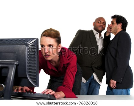 male co workers gossiping bout female co worker