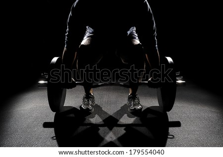 Male Deadlifting Position color
