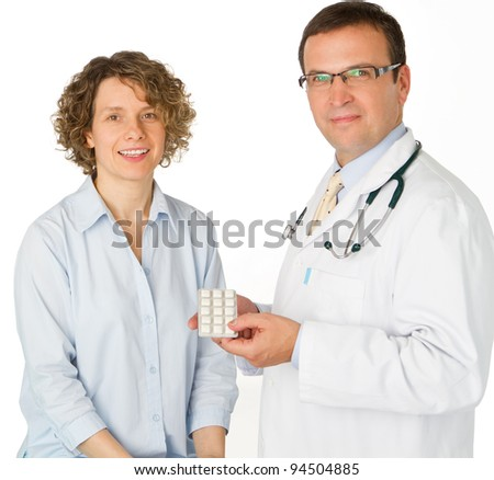 Male doctor and patient in hospital - portrait