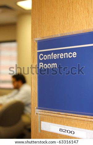 Male executive meeting in conference room