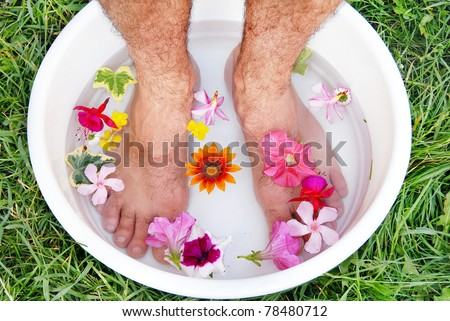 male feet spa