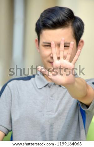 Male Gesturing Stop #1199164063