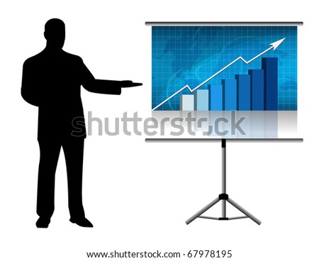 Male giving a presentation