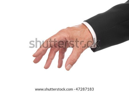 male hand ,isolated on white background