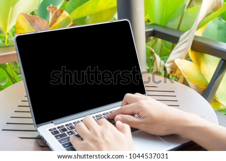 male hand typing on labtop,press on keyboard