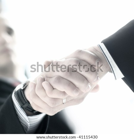 Male Handshake (Attention! Low depth of field!)