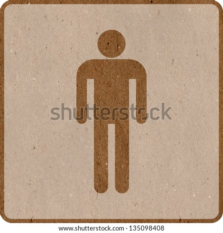 Male icon / sign