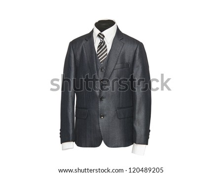 male jacket isolated on white background