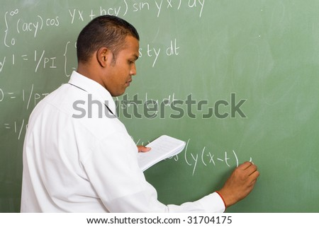 male math teacher during class