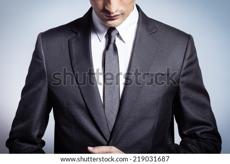 Shutterstock Male model in a suit