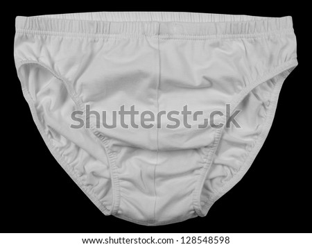 Male pants isolated on black background