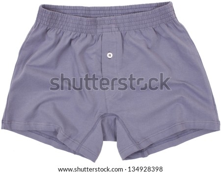 Male pants isolated on white background