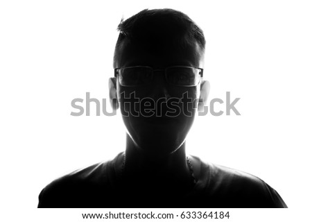 male person silhouette  #633364184