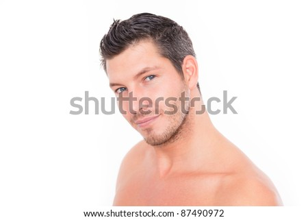 stock photo : male portrait nude. Save to a lightbox ▼. Please Login.