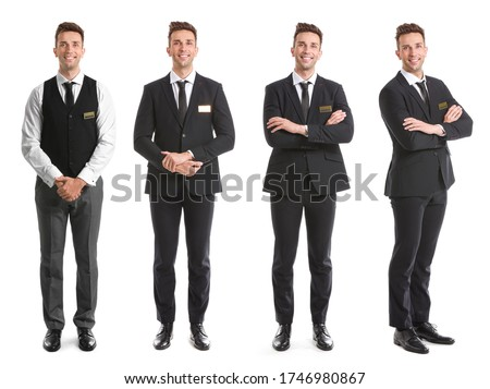 Male receptionist on white background Stock photo ©
