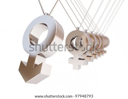 male sex symbol newton's cradle