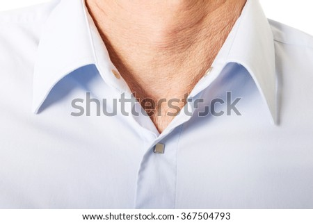 Male shirt with collar Stock photo ©