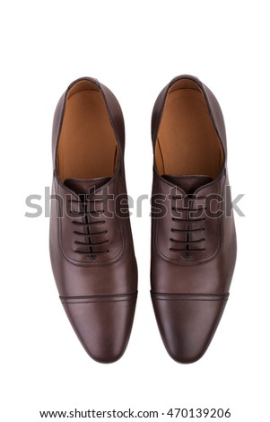 Male shoes isolated on the white background #470139206