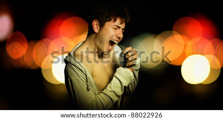 male singer during a concert