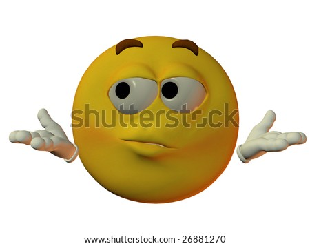 male smilie don't know - stock photo