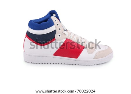 Male sneaker isolated on white