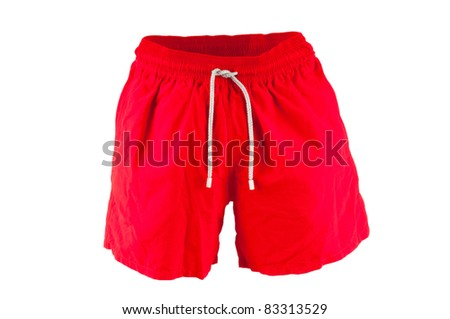 Male swimwear isolated on the white