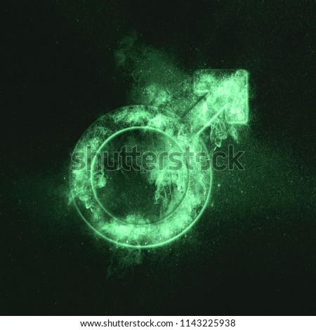 Male symbol. Green symbol #1143225938