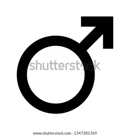 Male symbol isolated on white. Men gender sign. Mars icon #1347281369