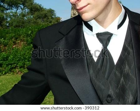 Male teen in formal wear