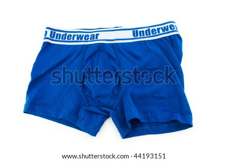 Male underwear isolated on the white