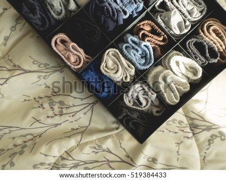 Male underwear keep them neat in the box. #519384433
