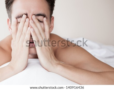 Male With Lack Of Sleep