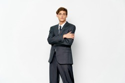 male workplace manager business suit business finance