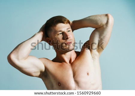 male young handsome guy with a handsome body model