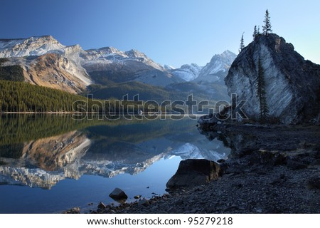 Maligne lake sunrise, Jasper