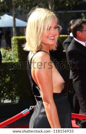 Malin Akerman at the 2012 Primetime Creative Arts Emmy Awards, Nokia Theatre L.A. Live, Los Angeles, CA 09-15-12