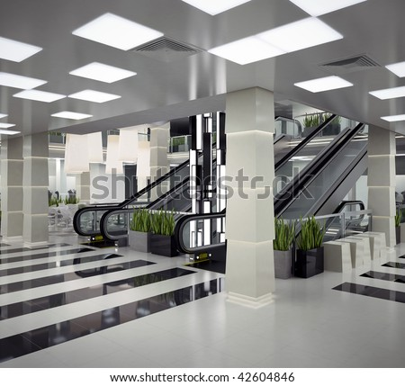 Mall interior design - stock photo