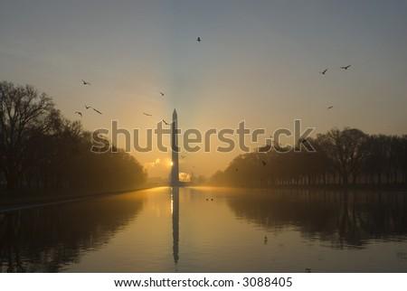 Mall Monument sunrise Washington DC travel series 69