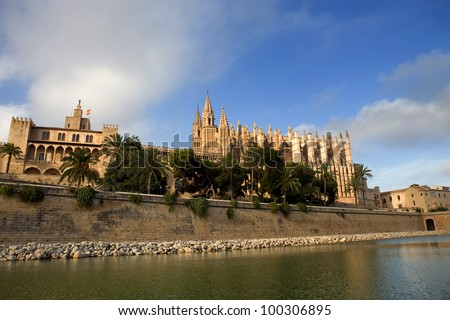 Mallorca cathedral, in Palma de Mallorca, Spain