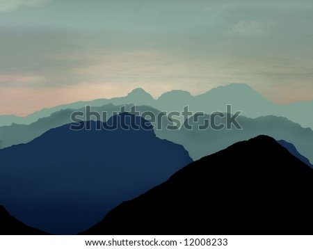 Mallorca inspired scene of mountains