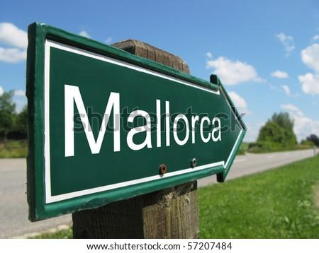 MALLORCA road sign