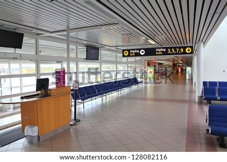 MALMO, SWEDEN - MARCH 12: Airport interior on March 12, 2011 in Malmo. With 1.6 million passengers for year 2010 it is the 5th busiest airport in Sweden.