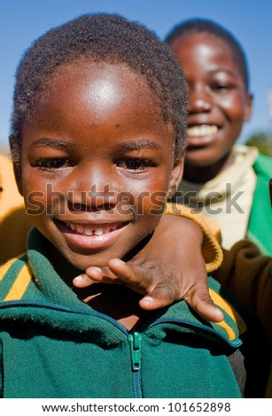 MALOLOTJA, SWAZILAND-JULY 31: Unidentified orphan schoolboy on July 31, 2008 in Malolotja Government School, Malolotja, Swaziland. Close to 10% of Swaziland�s population are orphans, due to HIV/AIDS.