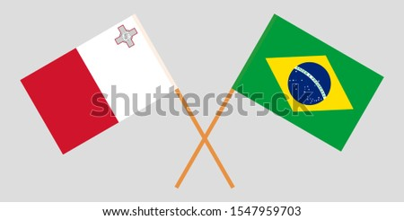 Malta and Brazil. The Maltese and Brazilian flags
