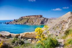 Malta, Gnejna Bay. Spring's Riot of Flowers.