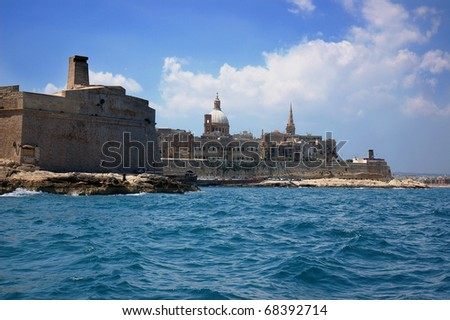 malta.gozo see from the sea 1
