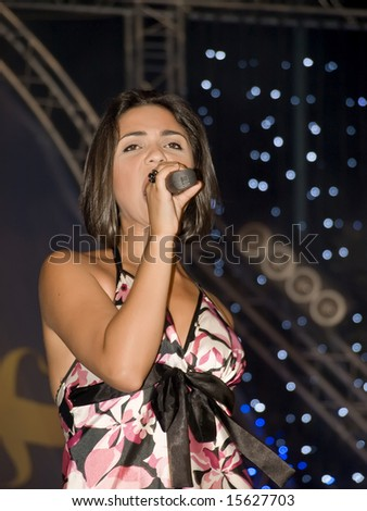MALTA - 30 JUL - Morena performing at the Farsons Beer Festival 2008. She represented Malta at the Eurovision Song Contest 2007