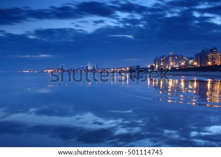 Shutterstock Malvin Beach at night, City of Montevideo, Uruguay